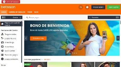 CasinoBetsson Webpage