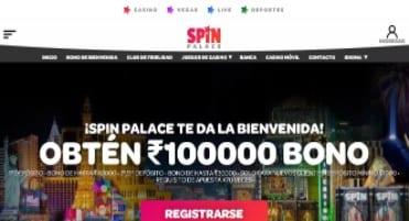 Spin palace Webpage